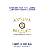 2018-2019 Annual Budget Cover Page Thumbnail