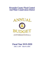 2019-2020 Annual Budget Cover Page Thumbnail