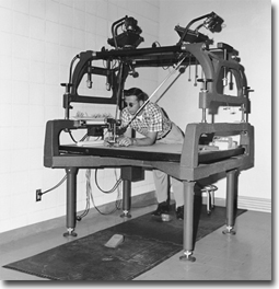 "Kelsh Plotter - Initial machine used to launch the District's ""in-house"" photogrammetric mapping program in 1957."