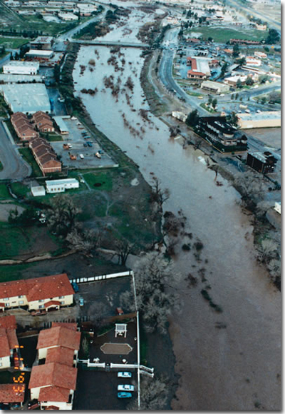 Significant rainfall January 1993 with flooding along Murrieta Creek.